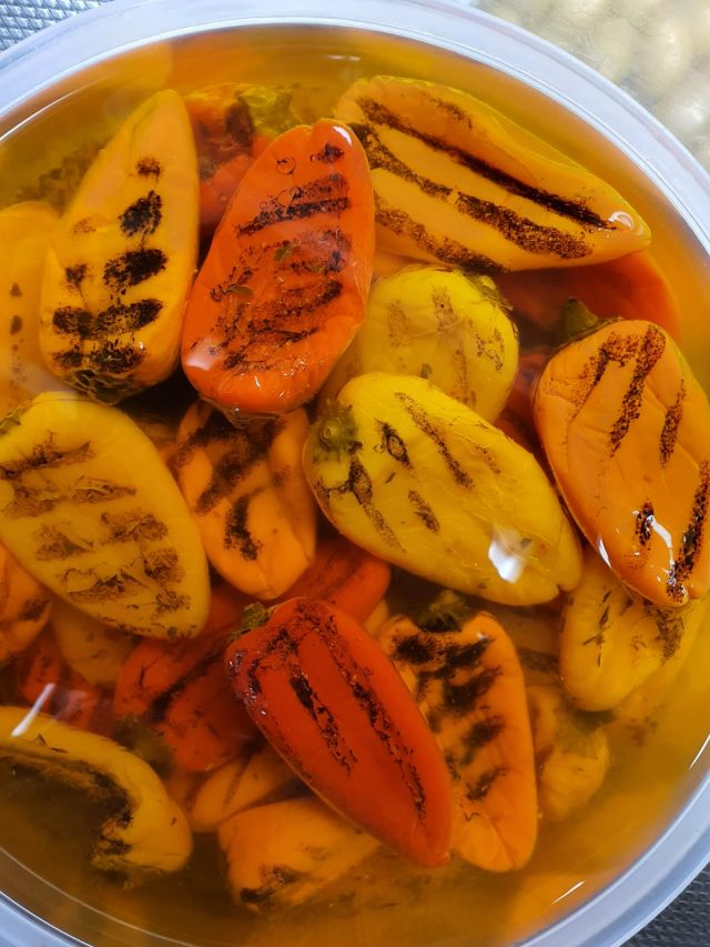 Grilled Mixed Sweet Peppers