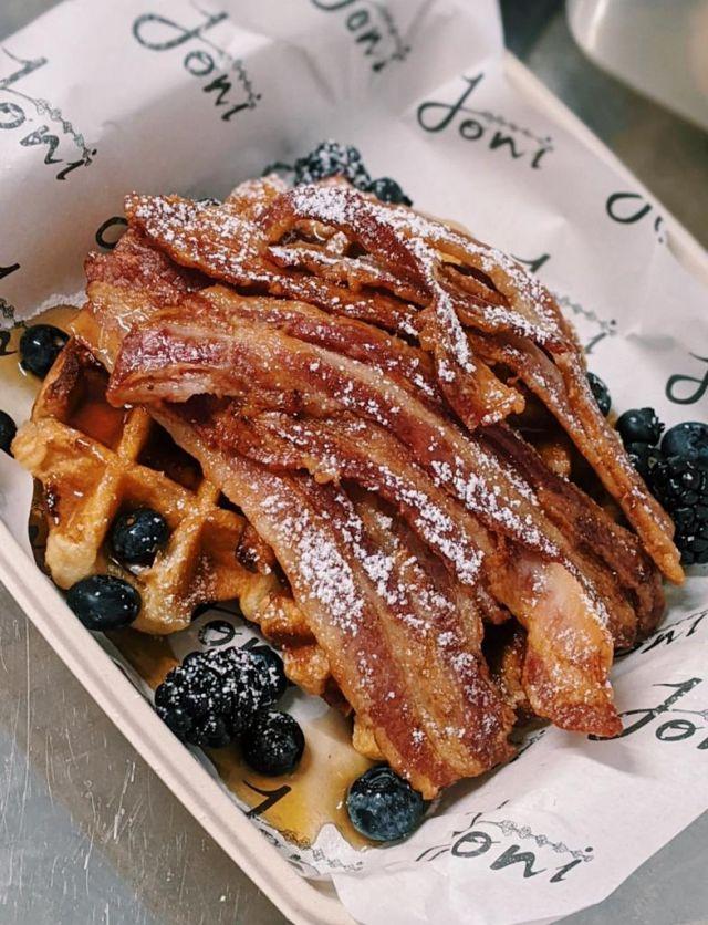 Bacon & Maple Waffle Stack