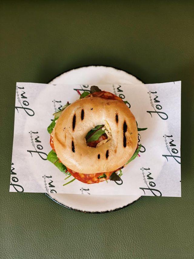 Prosciutto & Salsa Verde Bagel