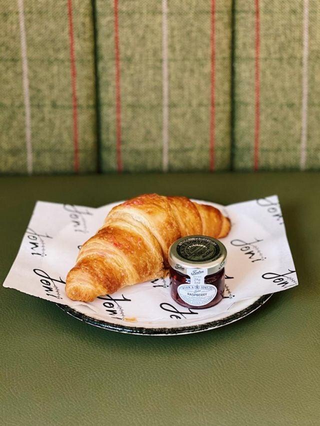 Freshly Baked Croissant with Premium Jam