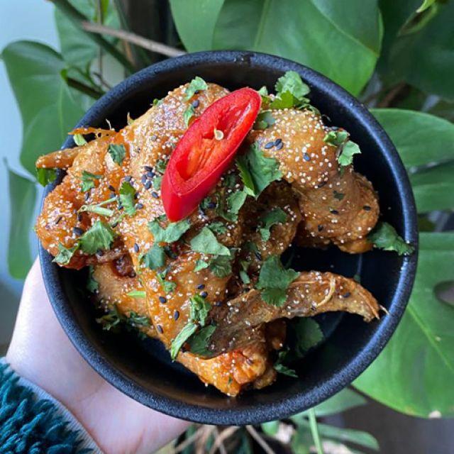Tamarind and honey chicken wings