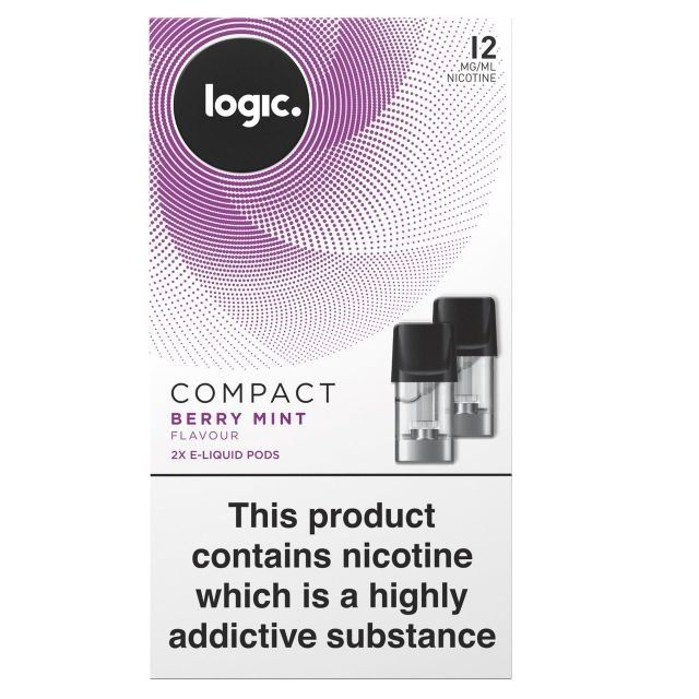 Logic Compact   Berry Mint Flavour 12mg