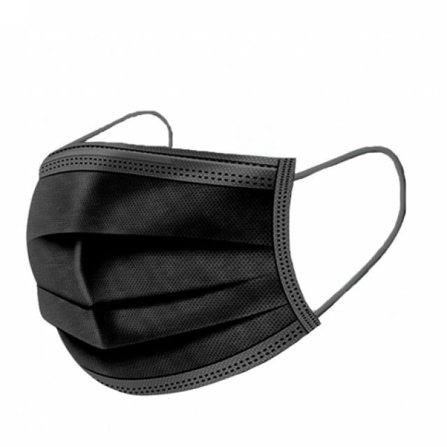 3-Ply Surgical Black Face Masks (X10) *Limited Supply*