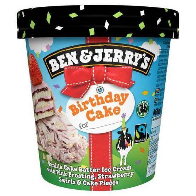 Ben and Jerry's Birthday Cake 465ml