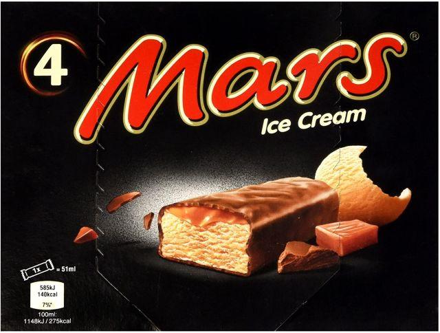 Mars Ice Cream Multipack 4's