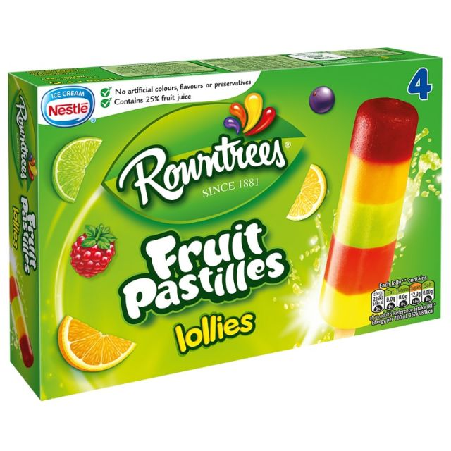 Fruit Pastle Lolly Multipack 4's