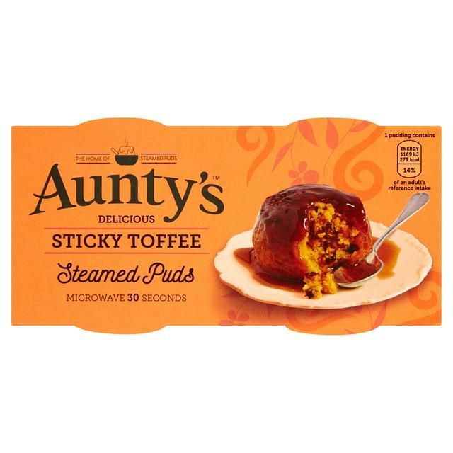 Aunty's Sticky Toffee Puddings 2x100g