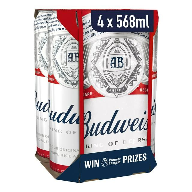 Budweiser Lager cans 4 * 568ml