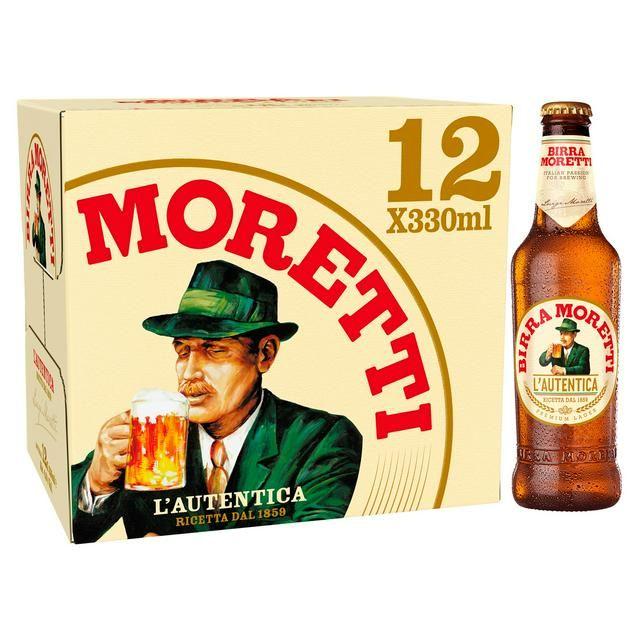 Birra Moretti Lager bottles 12 * 330ml