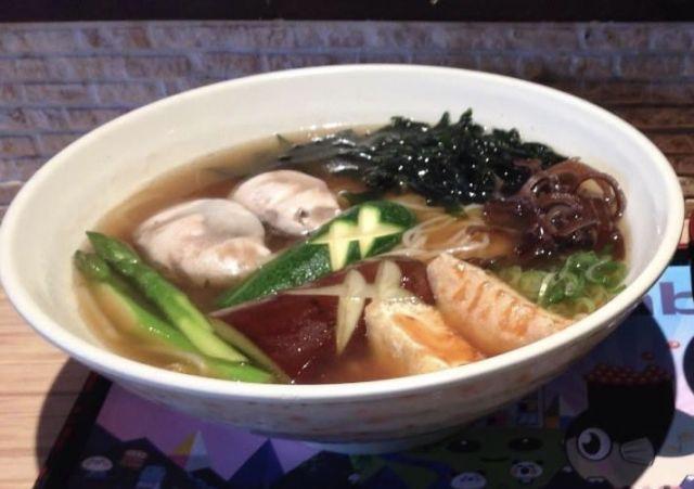 118A) MIX VEGETABLES soup  UDON
