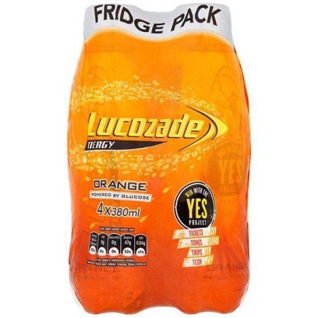 Lucozade Energy Orange 4 Pack