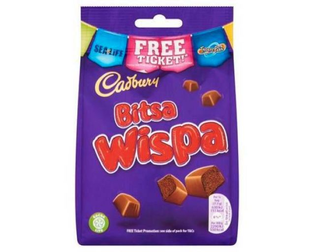 Cadbury Wispa Chocolate Pouch 110g