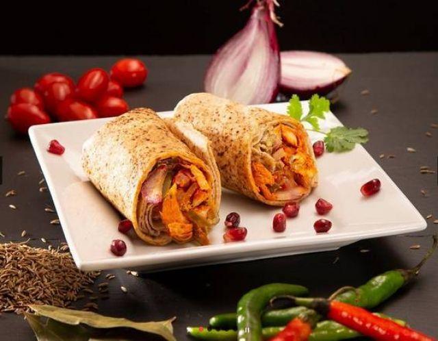 Fazila Onion Bhaji Wrap