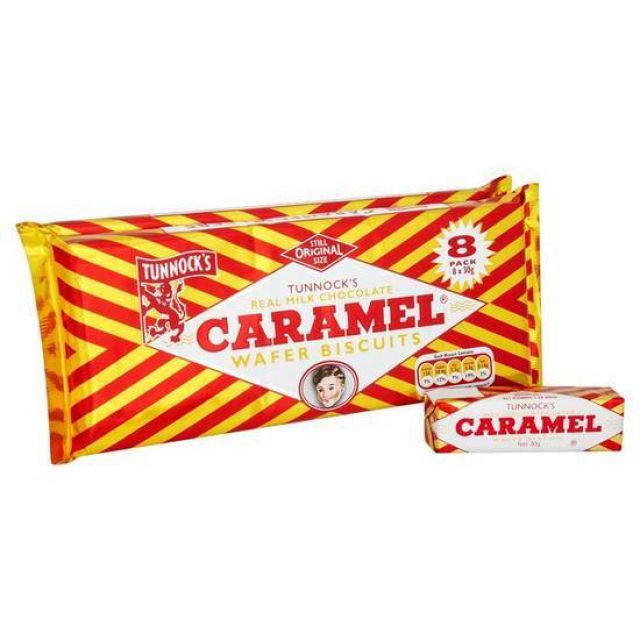 Tunnock's Chocolate Caramel Wafer Biscuits