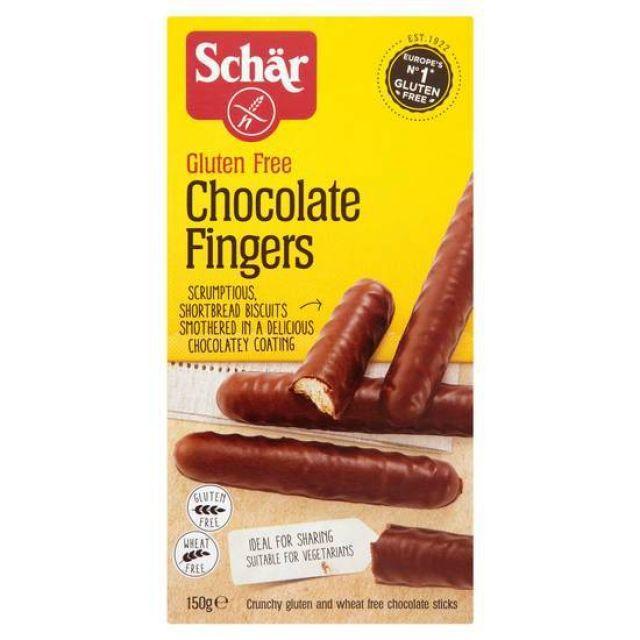 Schar Gluten Free Chocolate Fingers 150g