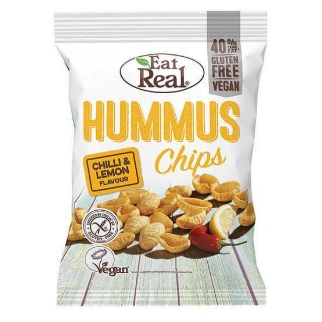 Eat Real Hummus Chilli & Lime 135G GLUTEN FREE, 40%LESS FAT, SUITABLE FOR VEGAN