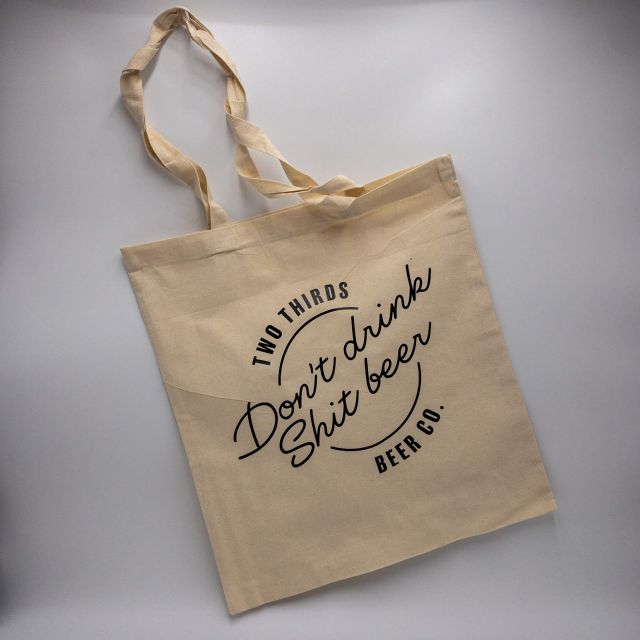 Two Thirds 'Don't Drink Shit Beer' Tote Bag