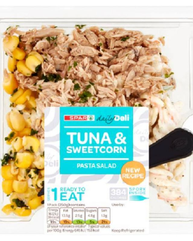 Spar Tuna & Sweetcorn Pasta Salad
