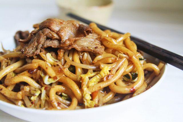 GYUUNIKU fried udon
