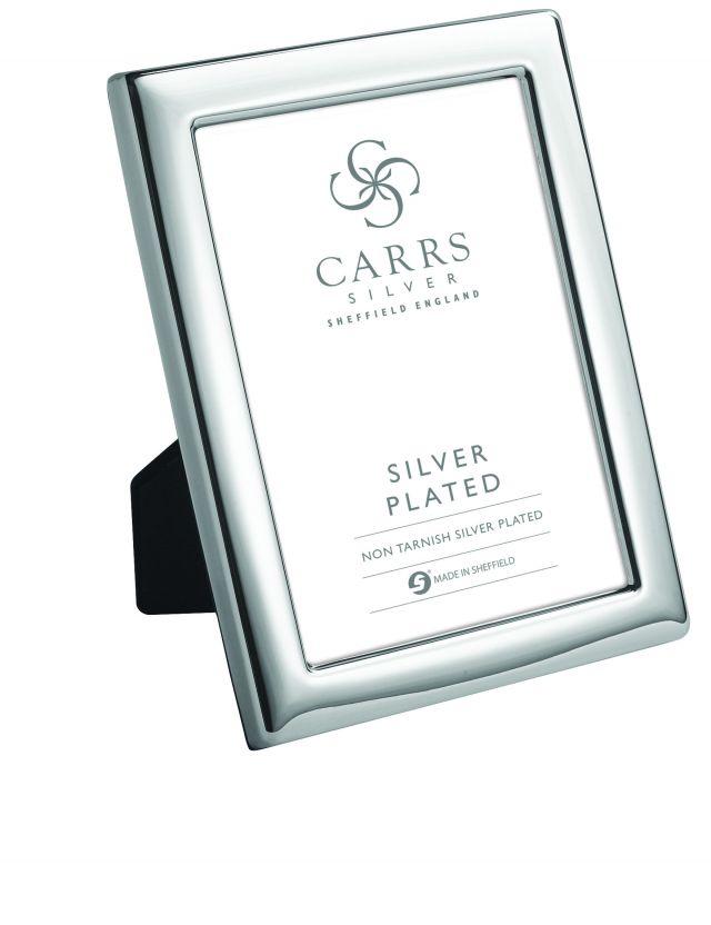 "Silver Plated Picture Frame - Velvet Back - 10""x8"""