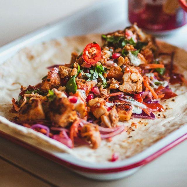 Chicken Kati Roll (Kolkata Kebab Wrap)