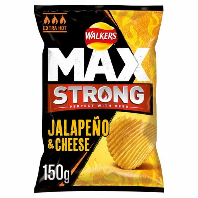 Walkers Max Strong Jalapeno Cheese 150g