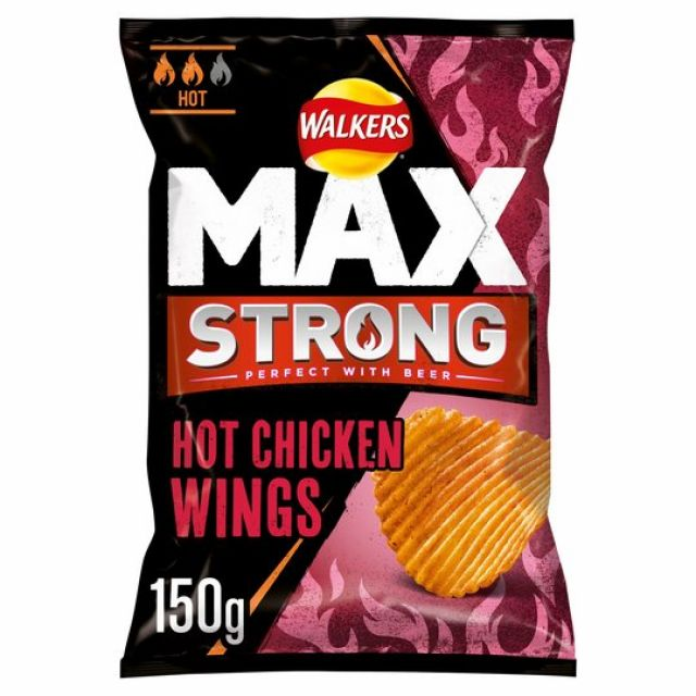 Walkers Max Strong Hot Chicken Wings 150g