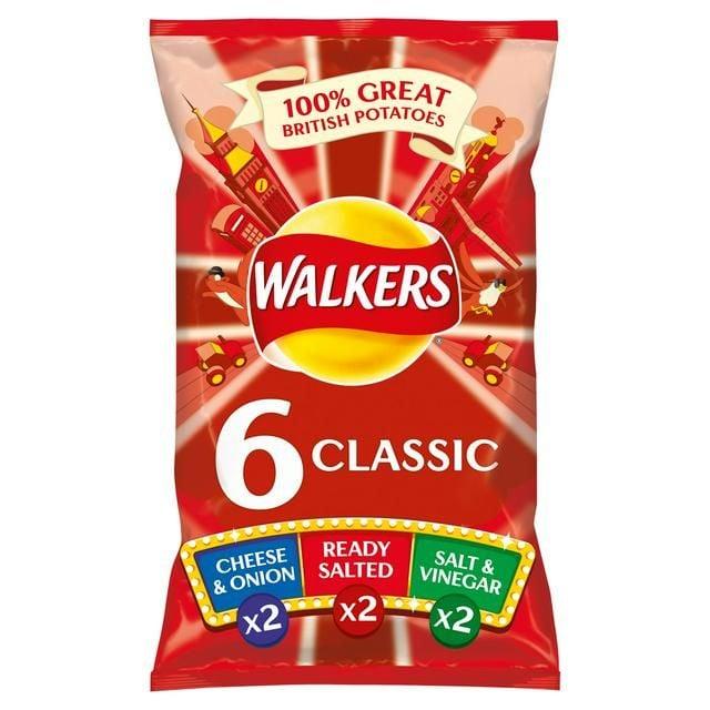 Walkers Classic Variety Crisps 6x25g