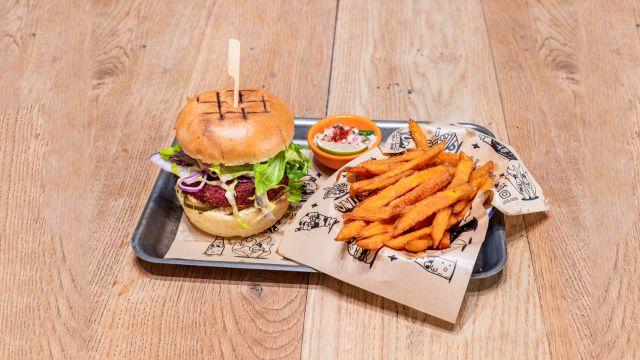 Just beet it vegan burger