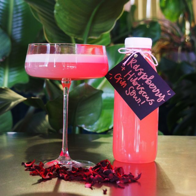 Raspberry + Hibiscus Gin Sour
