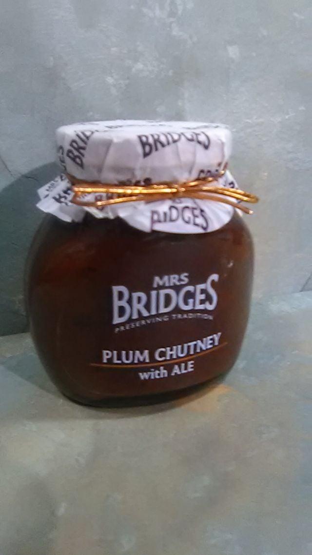 Mrs Bridges Plum Chutney with Ale 300g