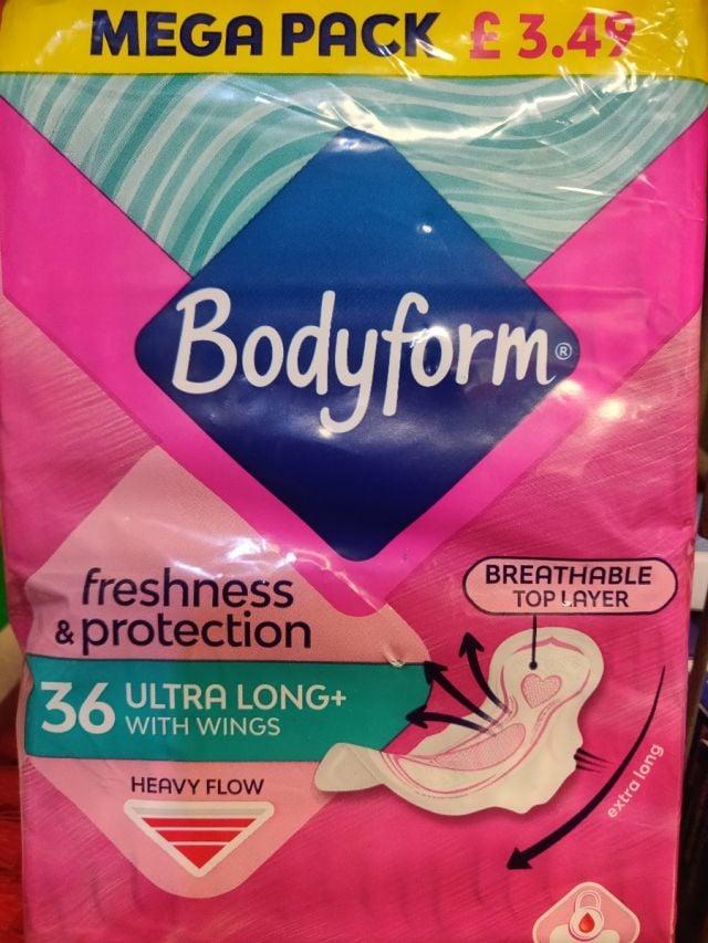 Bodyform Sanitary Towels