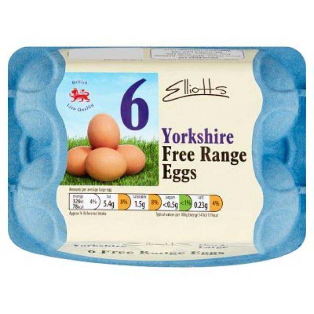 Large Free Range Yorkshire Eggs x6