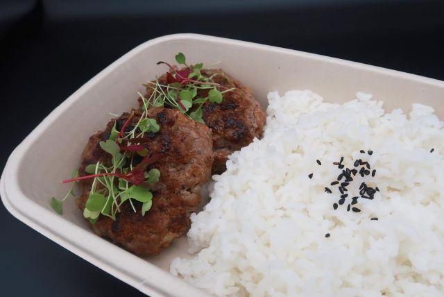 Korean BBQ Beef Short Rib Patties (Tteok-Galbi) with Rice Bowl