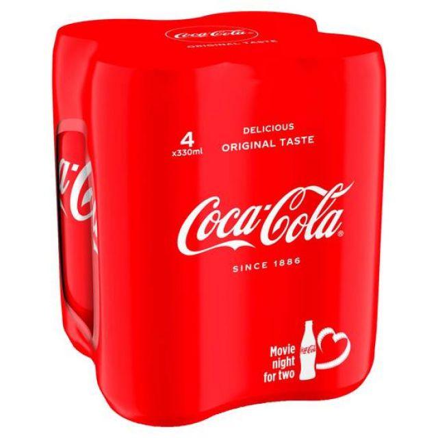 Coca Cola Original Multipack 4's