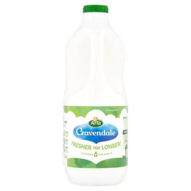 Cravendale Semi Skimmed Milk 2Ltr