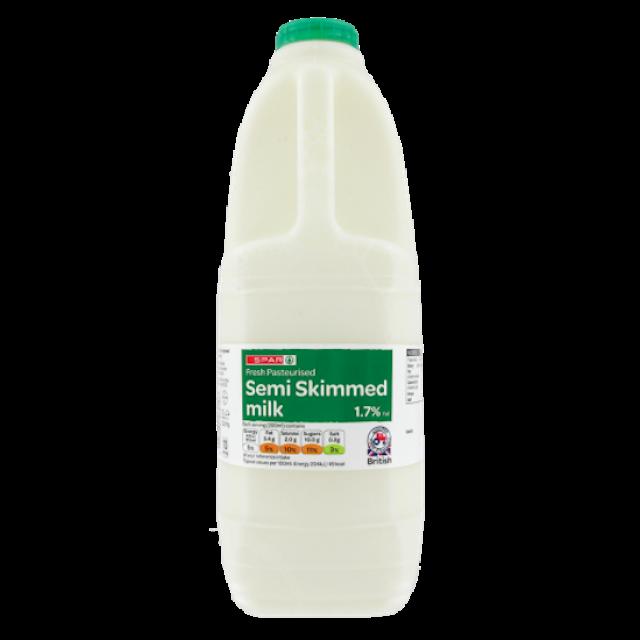 Spar Semi Skimmed Milk 2L