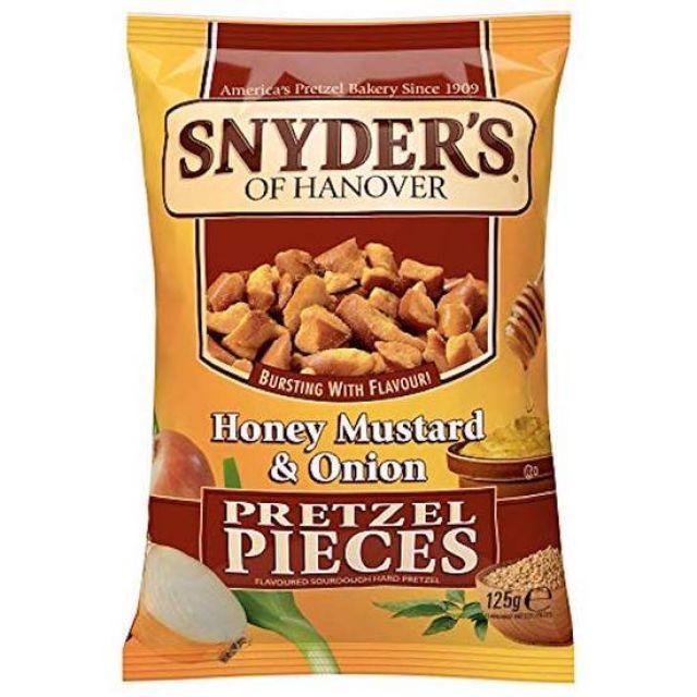 Snyders Pretzel Mustard & Onion 125g