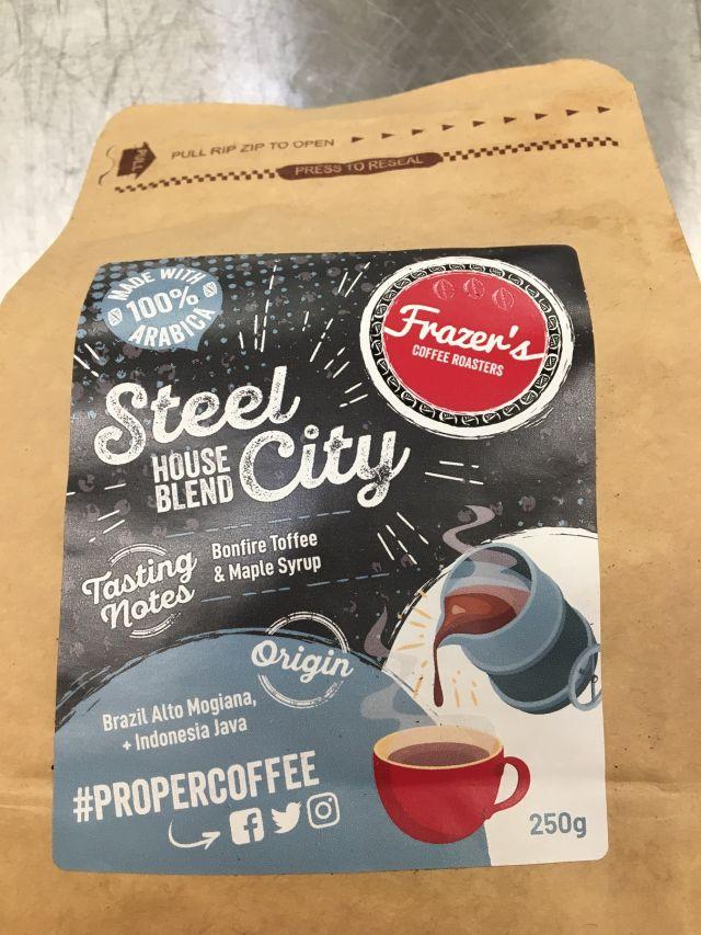 Coffee - Frazers Coffee - ground - Steel City - 250g