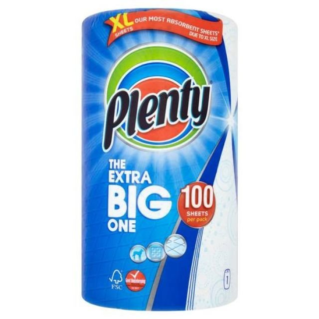 Plenty The Extra Big One 100 Sheets