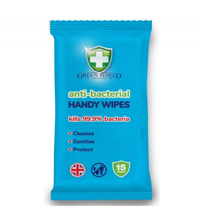 Green Shield Anti-Bacterial Handy Wipes