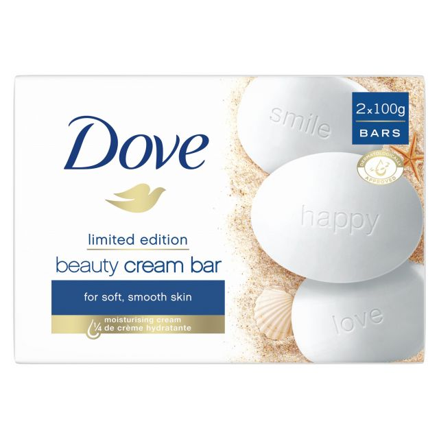 Dove Cream Bar Soap twin pack 200g