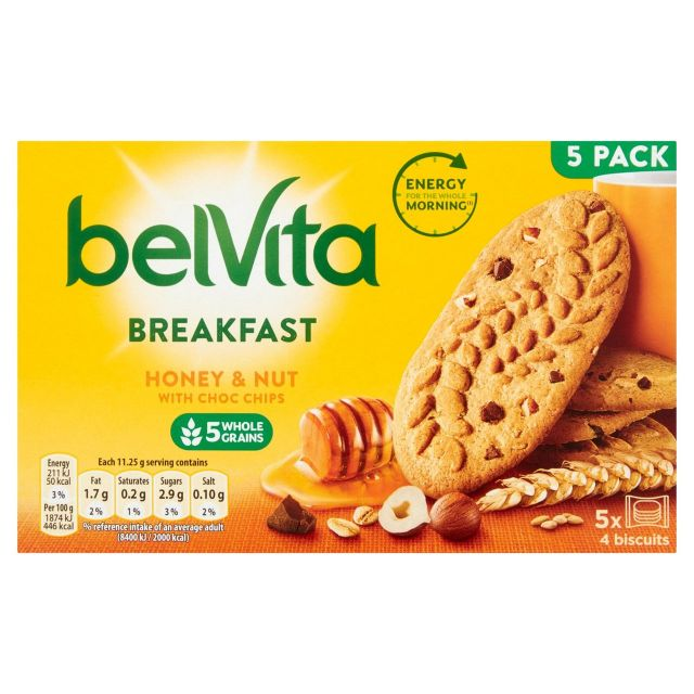 Belvita Breakfast Honey & Nut 5 Pack