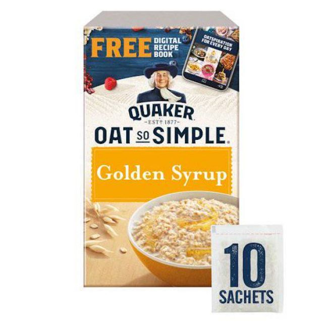Quakers Oats Golden Syrup 10 x 36g