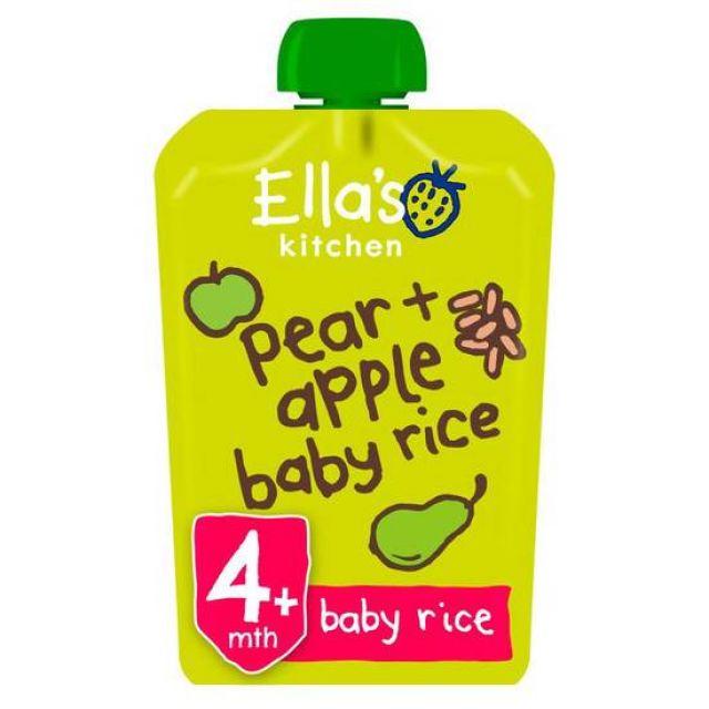 Ella's Kitchen Pear + Apple Baby Rice 120g