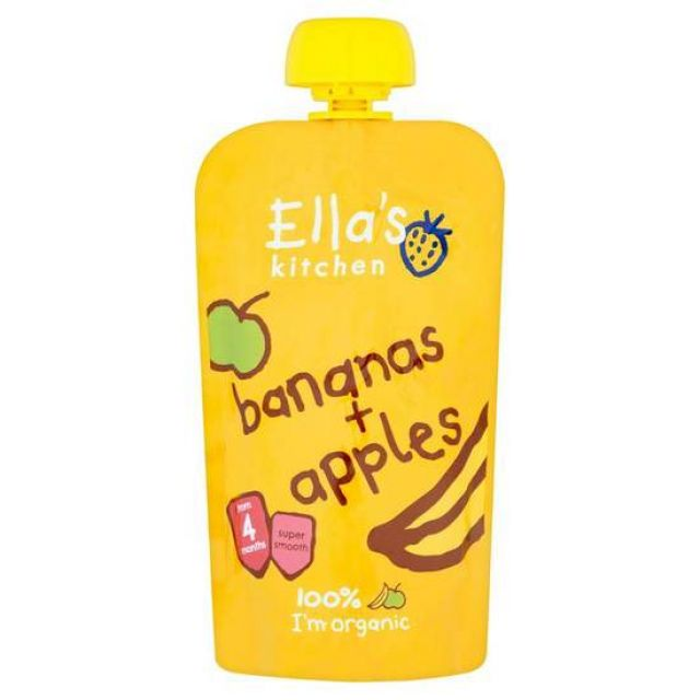 Ella's Kitchen Banana & Apple Puree 120g