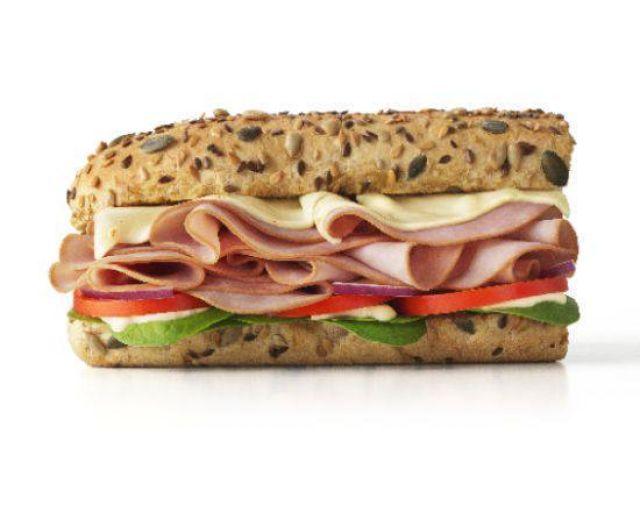 """6"""" Turkey Ham Sub"""