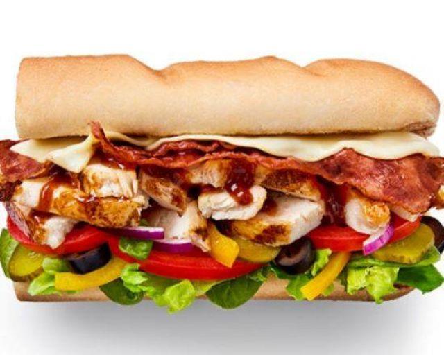 """6"""" Chicken & Turkey Rasher Sub"""