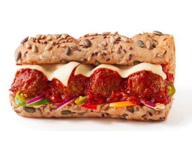 """6"""" Meatless Meatball Marinara Sub"""