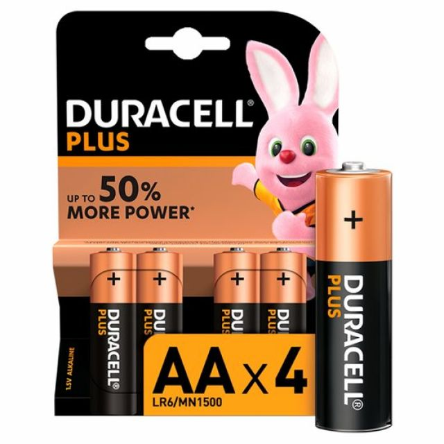 Duracell Plus AA Batteries 4s